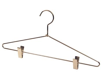 Metal Clothing Hangers with Clips